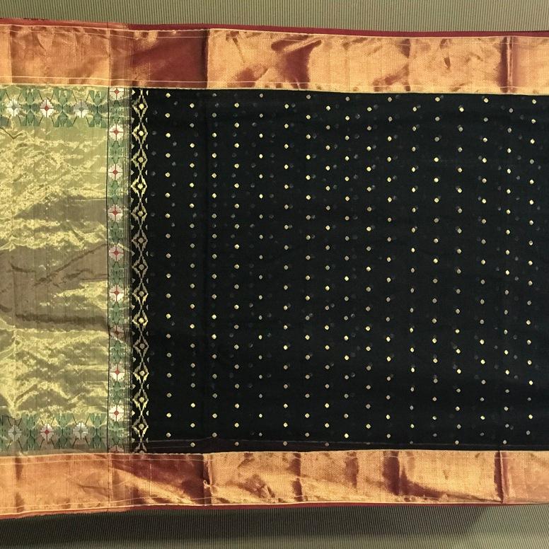 A Chandrakala sari on display